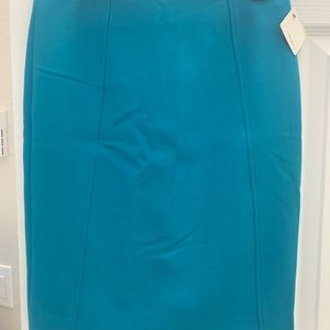 New Teal blue halogen pencil skirt
